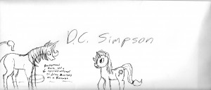Heavenly Nostrils fan art I made on D.C. Simpson's envelope.