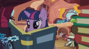 Twilight Sparkle is all about books.  Your argument is invalid.